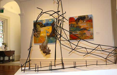 Drawn Together Painted Apart exhibition