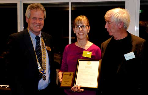 Rotary 17 8 16 Vocational-Dinner Susan Filan Neil-McWhannell Brian Wexham WEB