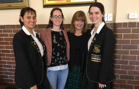 Senior-College-Breakfast-Dr-Natasha-Moore-with-Megan-and-students-WEB