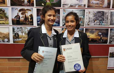 Ruth-Sanger_Left Jessica Cejnar Year 10 and Olivia Cejnar Year 8