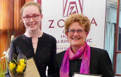 Zonta Judith Poole and Maggie Laing