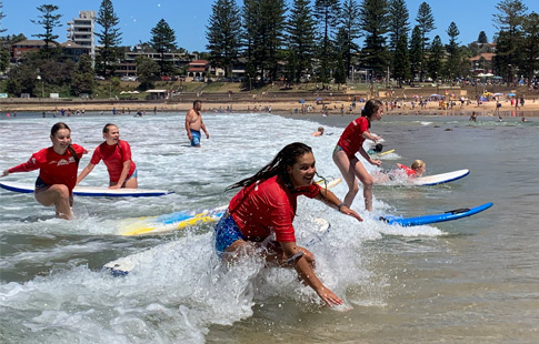 Boarders Surfing at Dee Why